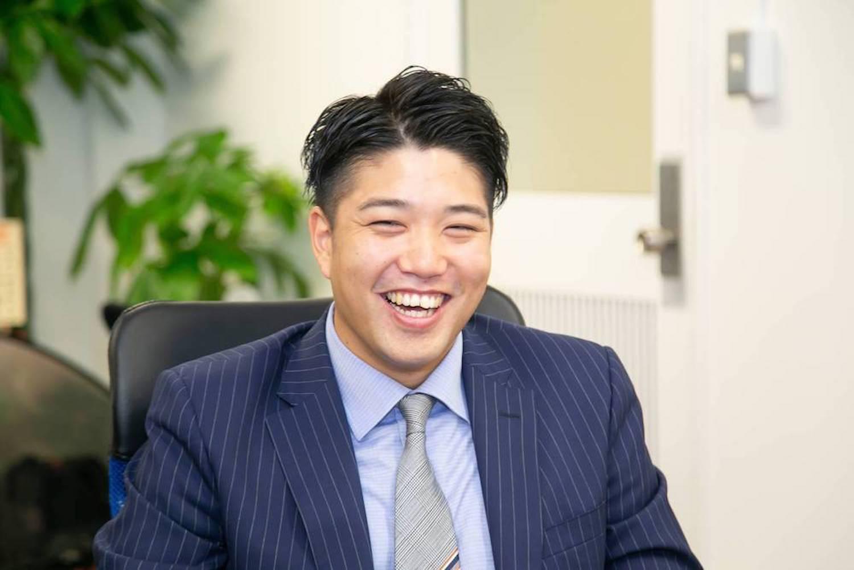 代表取締略社長馬場勝寛の写真